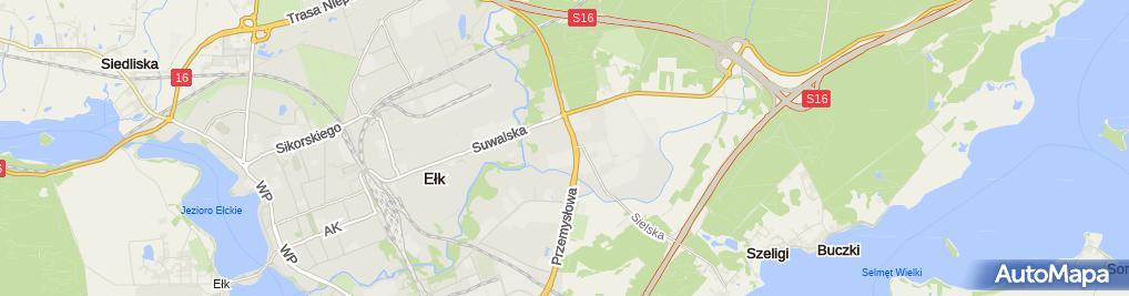 Zdjęcie satelitarne Auto Szyby Ełk Zibi-Glas
