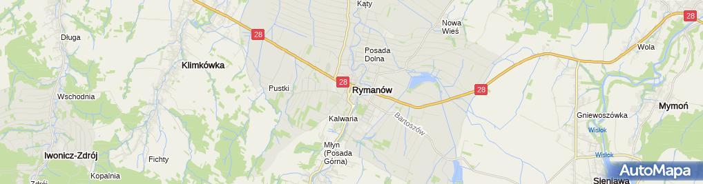Zdjęcie satelitarne BS Rymanów