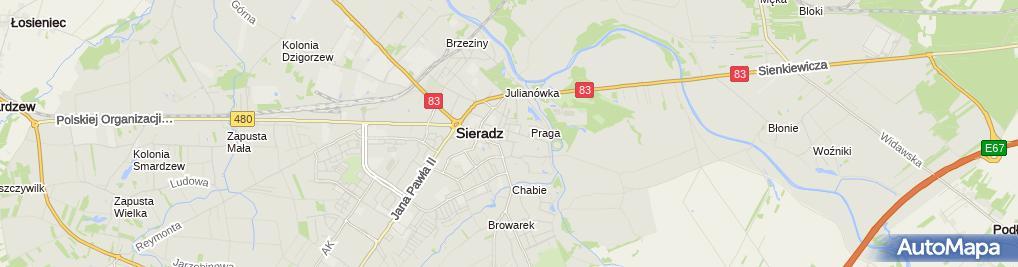 Zdjęcie satelitarne BS Sieradz
