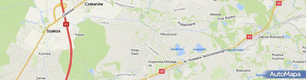 Zdjęcie satelitarne MOSiR Sparta Zabrze