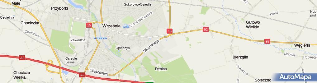 Zdjęcie satelitarne WESOŁEK