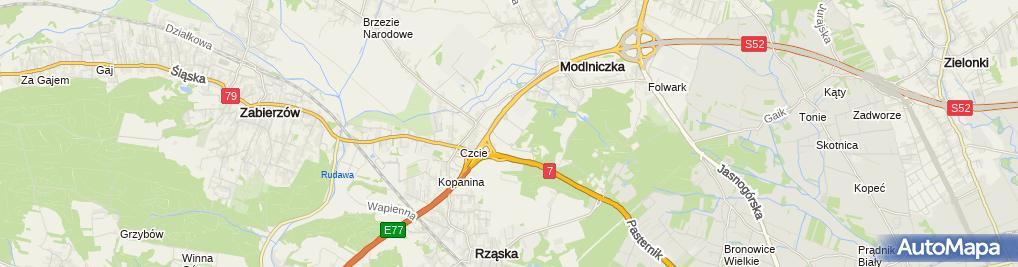 Zdjęcie satelitarne Factory Kraków