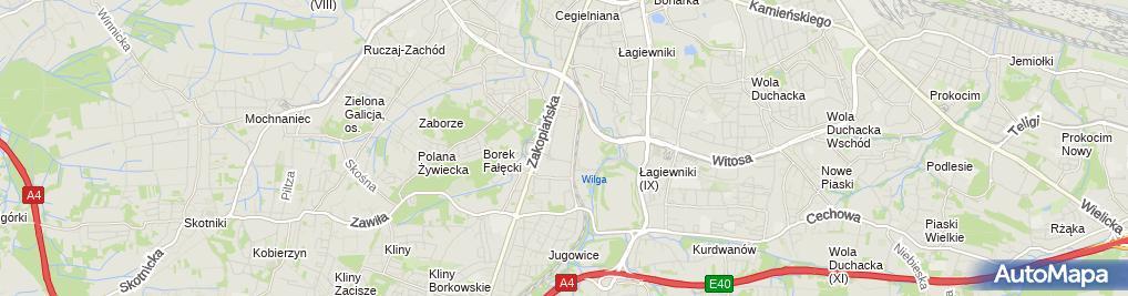 Zdjęcie satelitarne Zakopianka