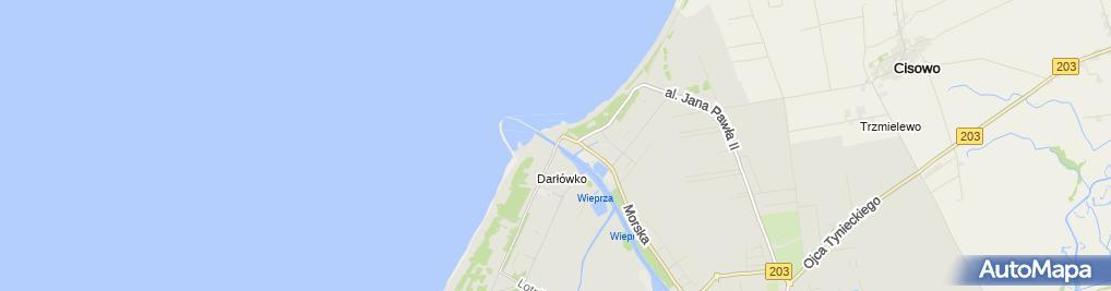 Zdjęcie satelitarne Rozsuwany most im. Kapitana Witolda Huberta