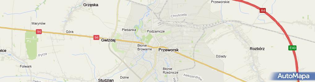 Zdjęcie satelitarne Cmentarz