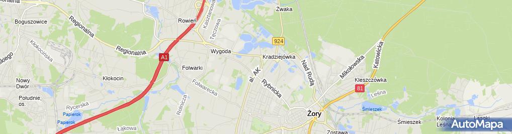 Zdjęcie satelitarne Komunalny