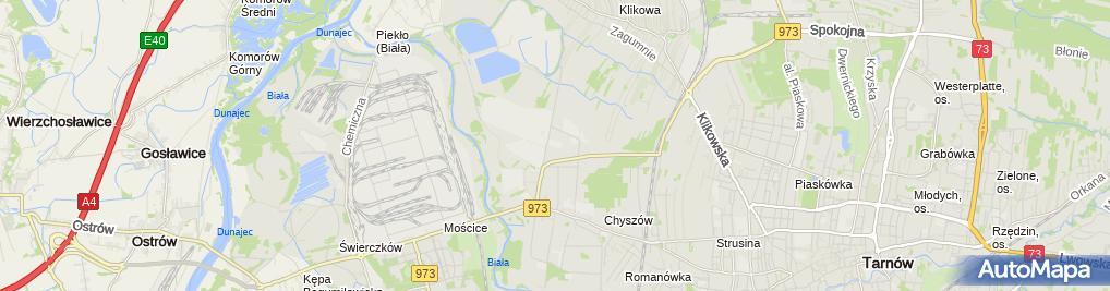 Zdjęcie satelitarne DHL Tarnow