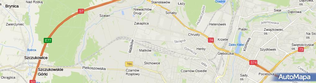 Zdjęcie satelitarne DHL