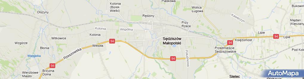 Zdjęcie satelitarne Miejsko Gminny Ośrodek Kultury Sędziszów Małopolski