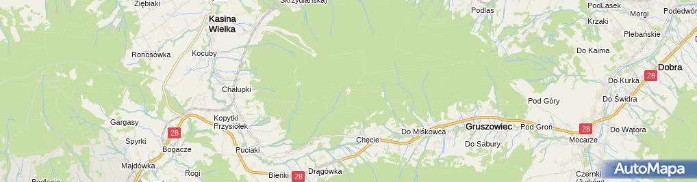 Zdjęcie satelitarne Młodzieżowy Ośrodek Rekolekcyjny
