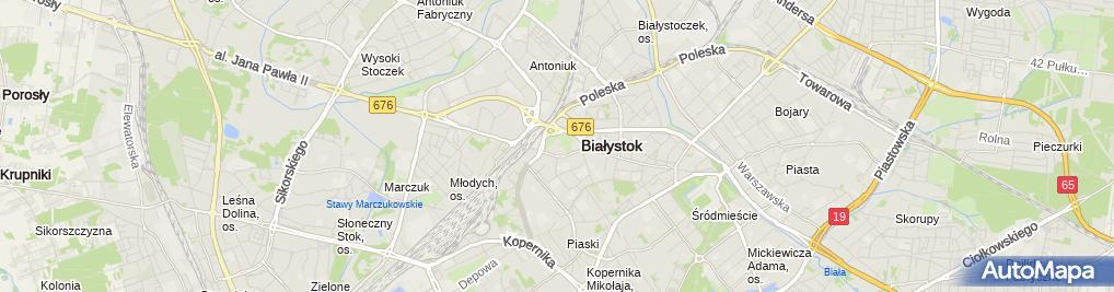 Zdjęcie satelitarne WOAK Spodki