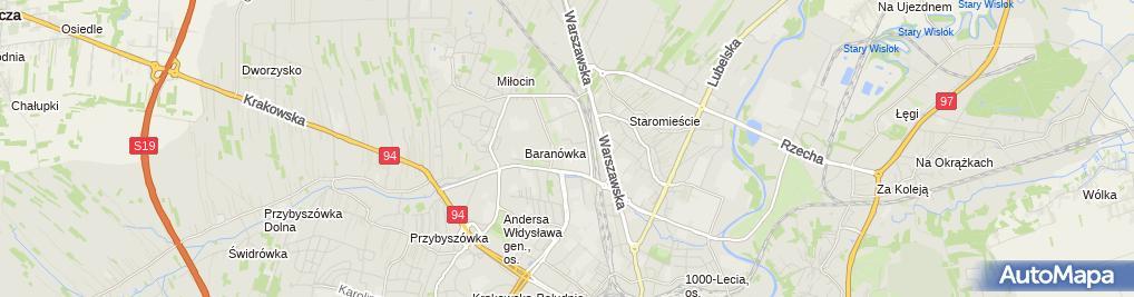 Zdjęcie satelitarne KSG Sp. z o.o. Oddział Rzeszów