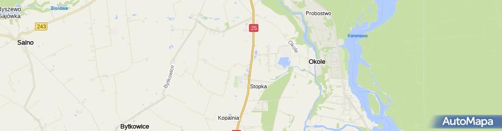 Zdjęcie satelitarne Stopka