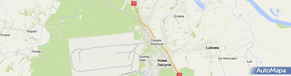 Zdjęcie satelitarne Hotelik