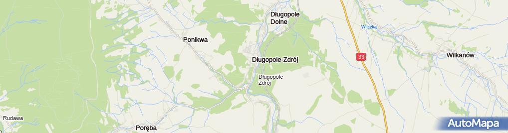 Zdjęcie satelitarne Szpital Uzdrowiskowy Mieszko
