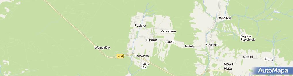 Zdjęcie satelitarne Cisów (województwo świętokrzyskie)