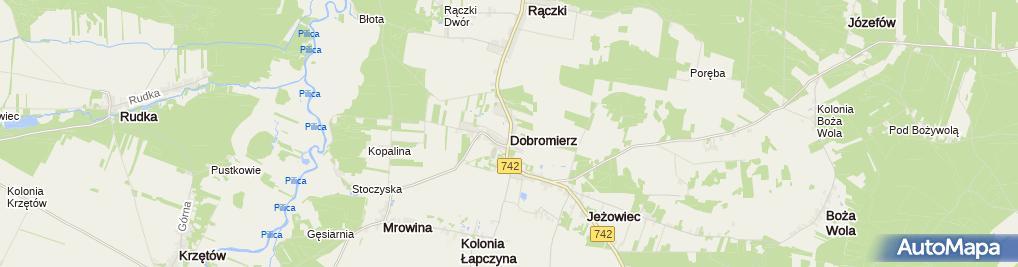 Zdjęcie satelitarne Dobromierz (województwo świętokrzyskie)