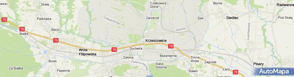 Zdjęcie satelitarne Krzeszowice
