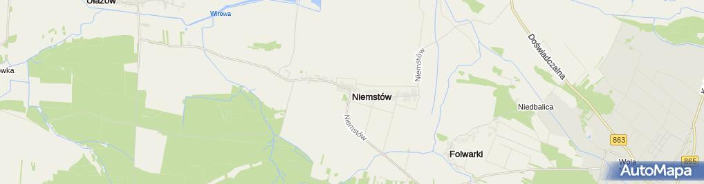 Zdjęcie satelitarne Niemstów (województwo podkarpackie)