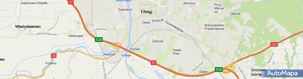 Zdjęcie satelitarne Zatorze (Elbląg)