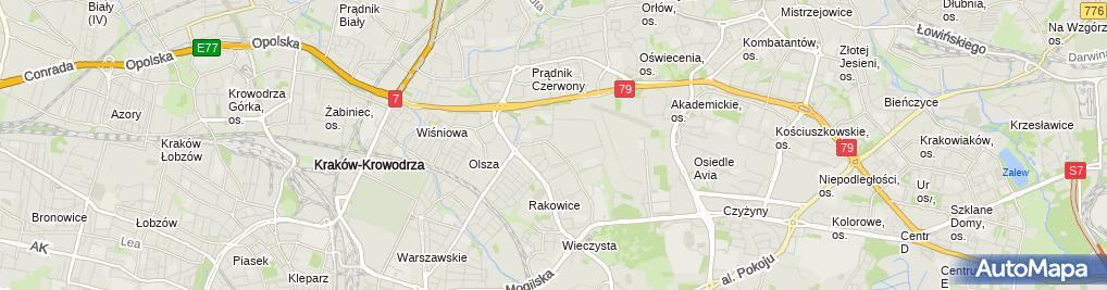 Zdjęcie satelitarne 6 batalion dowodzenia im. gen. broni Józefa Kuropieski