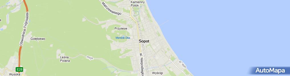Zdjęcie satelitarne Kantor Morski s.c. - wymiana walut
