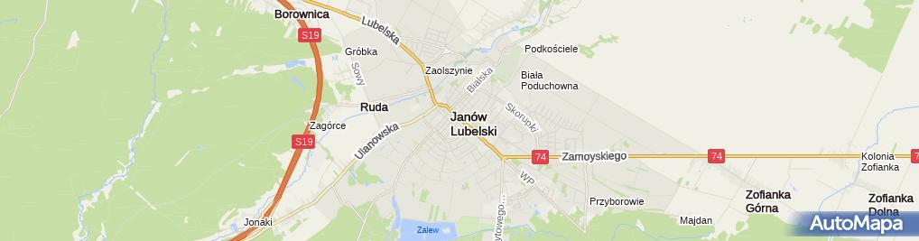 Zdjęcie satelitarne Kantor