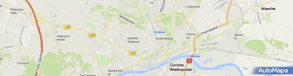 Zdjęcie satelitarne Kaufland