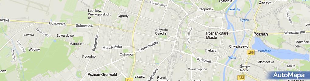 Zdjęcie satelitarne Komenda Miejska Policji