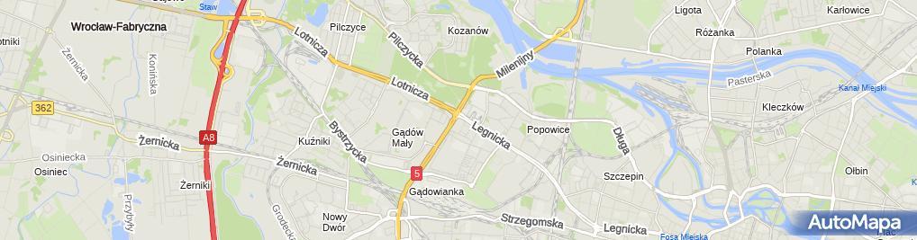 Zdjęcie satelitarne Lexus Wrocław