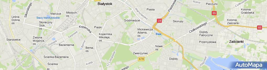 Zdjęcie satelitarne XI Liceum Ogólnokształcące im. Rotmistrza Witolda Pileckiego