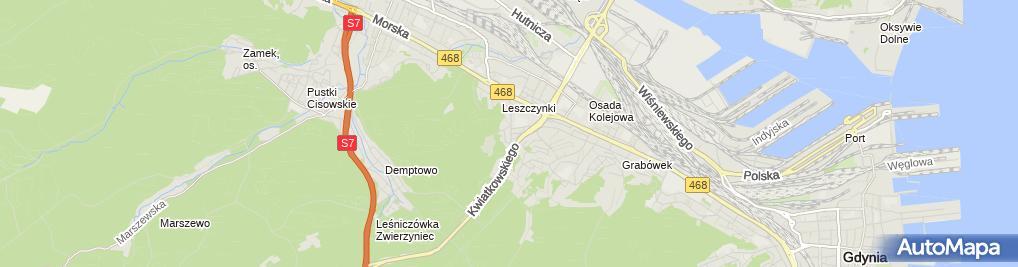 Zdjęcie satelitarne Sierakowski Stefan