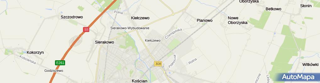 Zdjęcie satelitarne PHU Krzysztof Maluśki