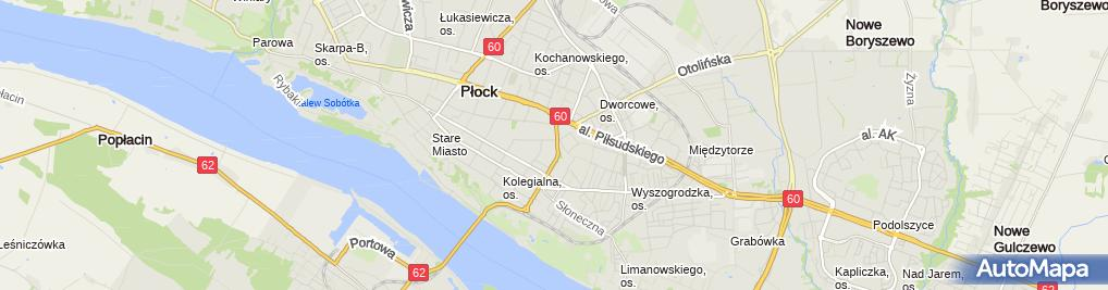 Zdjęcie satelitarne Delegatura - Mazowiecki NFZ