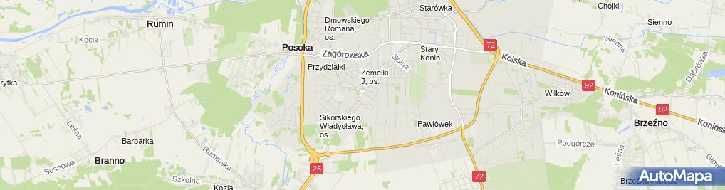 Zdjęcie satelitarne Delegatura - Wielkopolski NFZ
