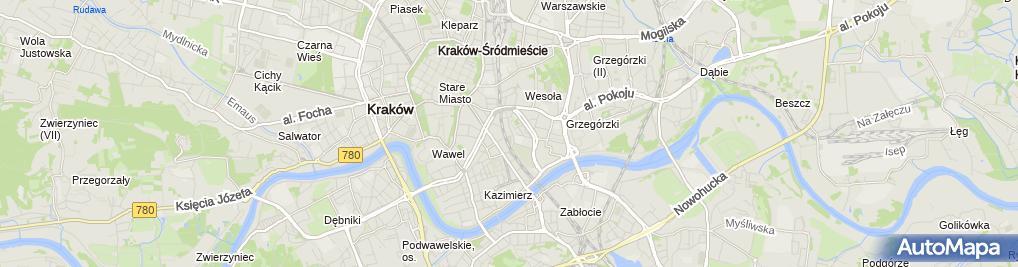 Zdjęcie satelitarne Lodowisko MKS Cracovia