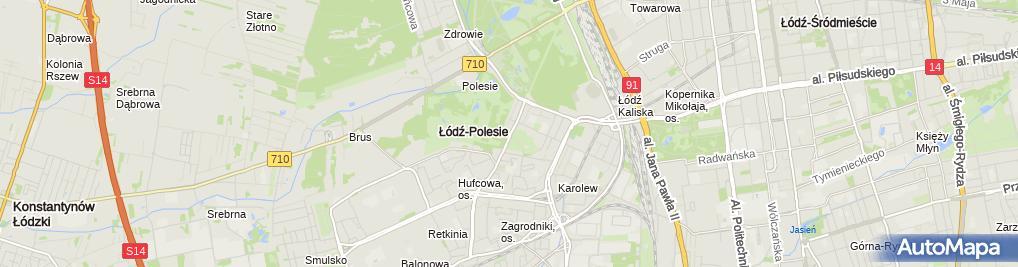 Zdjęcie satelitarne TRACZ Centrum Ogrodnicze