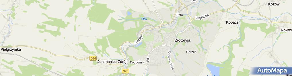 Zdjęcie satelitarne Ogródki działkowe