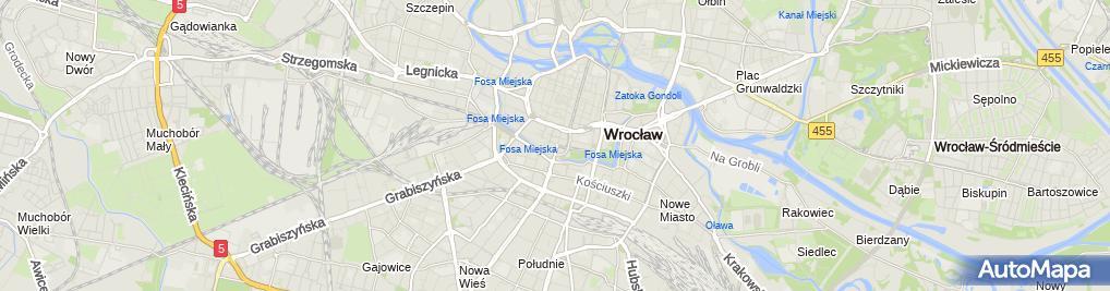Zdjęcie satelitarne Opera Wrocławska
