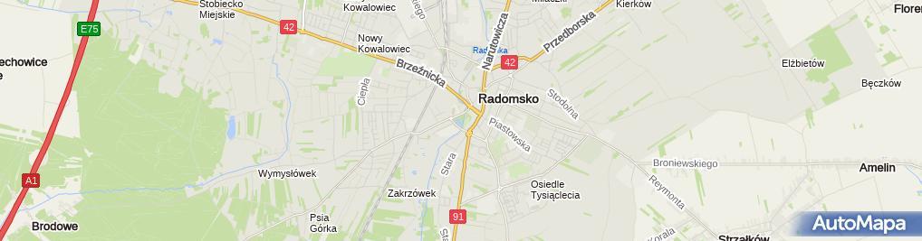 Zdjęcie satelitarne Park Świętojański