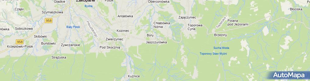 Zdjęcie satelitarne Willa Pod Piórem