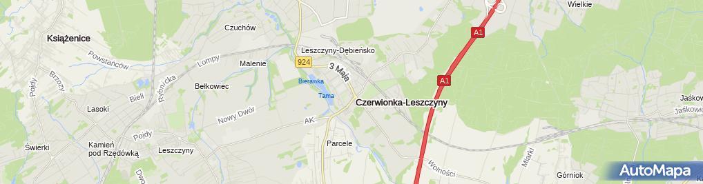 Zdjęcie satelitarne Restauracja-Pizzeria Na Pięterku