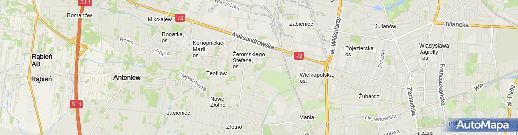 Zdjęcie satelitarne Ogródek Jordanowski