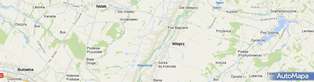 Zdjęcie satelitarne FUP Andrychów