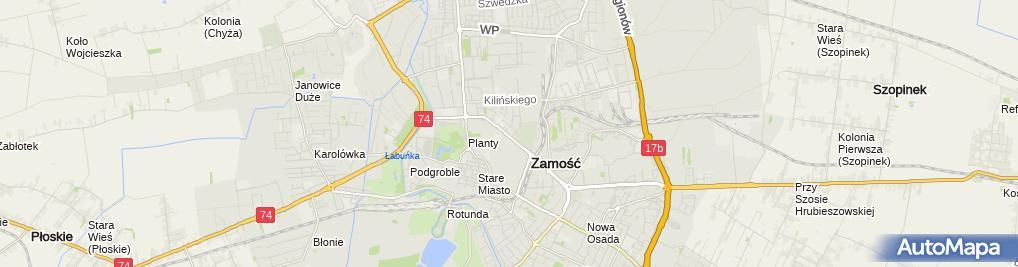 Zdjęcie satelitarne PZMot
