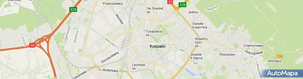 Zdjęcie satelitarne Głos Koszaliński