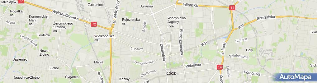 Zdjęcie satelitarne Prokuratura Rejonowa Łódź - Bałuty