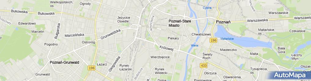 Zdjęcie satelitarne Izba Rzemieślnicza