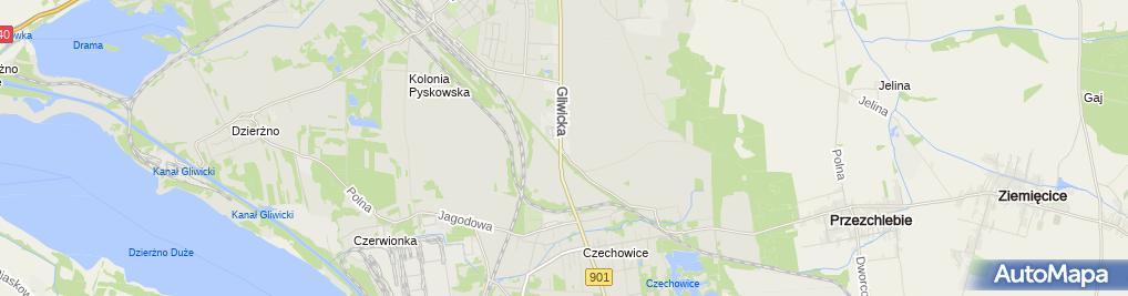 Zdjęcie satelitarne Skład Opału