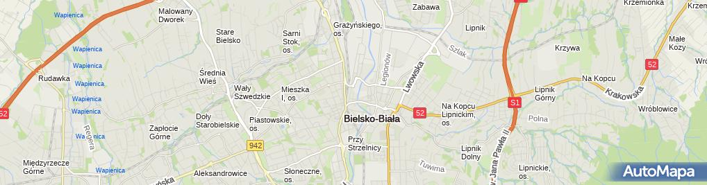 Zdjęcie satelitarne Alfa-Med SC. Poradnia NZOZ
